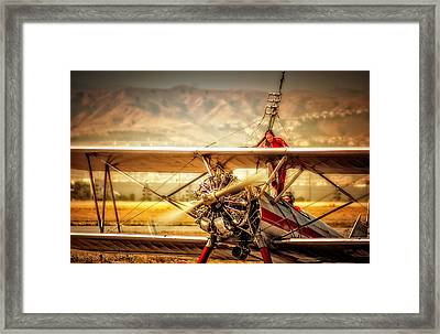Framed Print featuring the photograph Wing Walker by Steve Benefiel