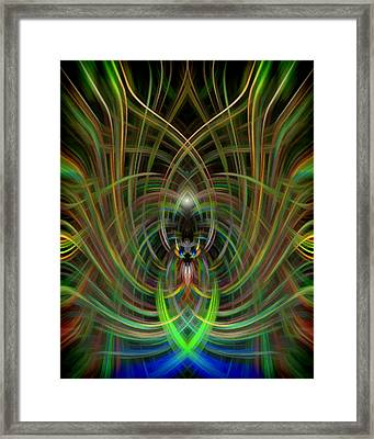 Winged Bug Framed Print by Cherie Duran