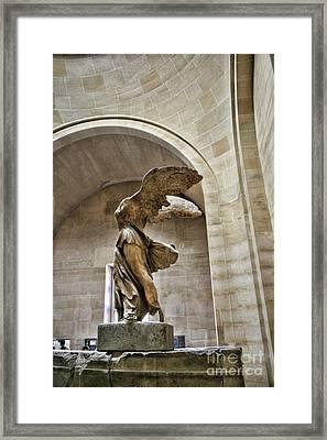 Winged Color Samothrace  Framed Print