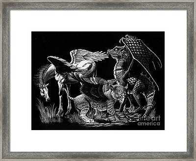 Winged Hatchlings Framed Print