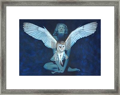 Winged Heart Framed Print by Ragen Mendenhall