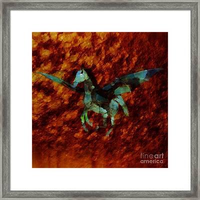 Winged Horse By Sarah Kirk Framed Print