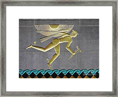 Framed Print featuring the photograph Winged Mercury by Sarah Loft