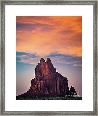 Winged Rock Framed Print