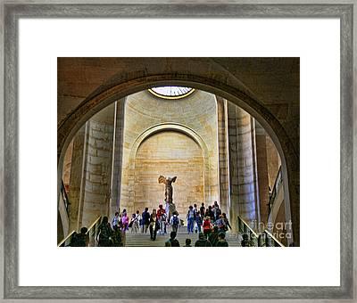 Winged Samothrace Louvre  Framed Print by Chuck Kuhn