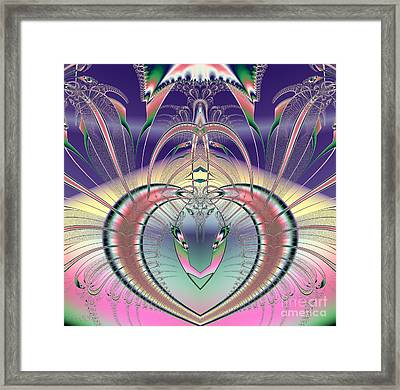 Winged Soul Flying Heavenward Fractal Framed Print by Rose Santuci-Sofranko