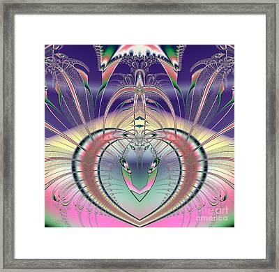 Winged Soul Flying Heavenward Fractal Framed Print