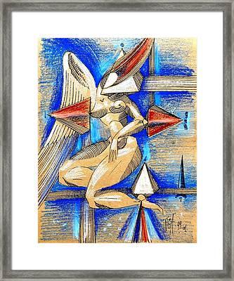 Winged Space Framed Print by Inga Vereshchagina