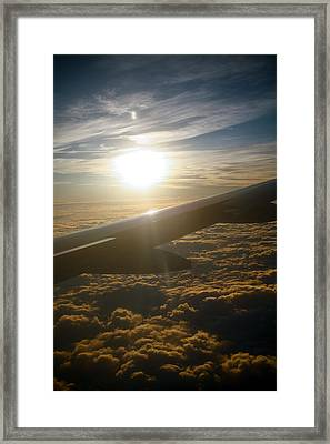 Winged Sun Framed Print by Larry Underwood
