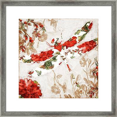 Winged Tapestry II Framed Print by Mindy Sommers