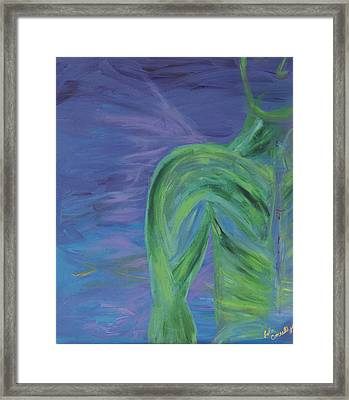 Winged Thing Framed Print by Lola Connelly