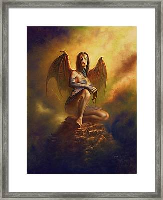 Winged Vamp Framed Print