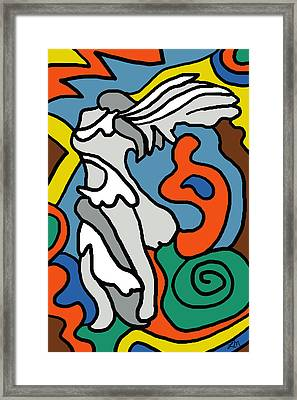 Winged Victory Imagined Framed Print by Linda Mears