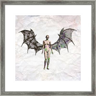 Winged Vixen Pop Art By Mary Bassett Framed Print