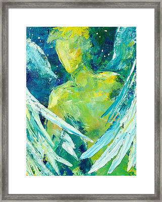 Framed Print featuring the painting Winged Watchman by Chris Rice