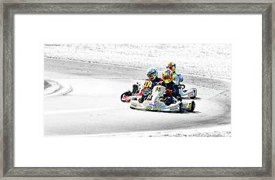 Wingham Go Karts 04 Framed Print by Kevin Chippindall