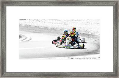 Wingham Go Karts 04 Framed Print