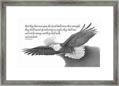 Wings As Eagles Framed Print