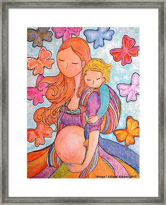 Wings Framed Print by Gioia Albano