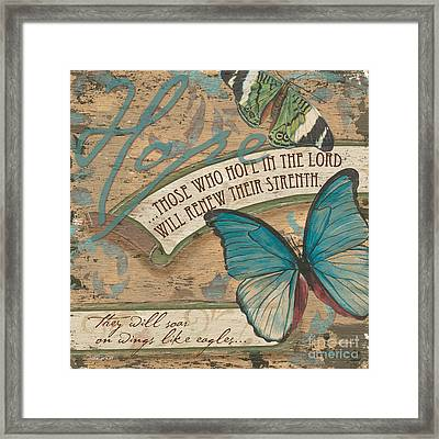 Wings Of Hope Framed Print by Debbie DeWitt