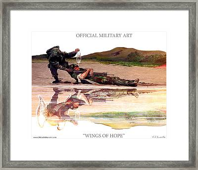 Wings Of Hope Design For T Shirts Framed Print