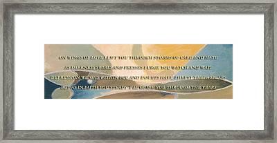 Wings Of Love Framed Print by Chris Whittle
