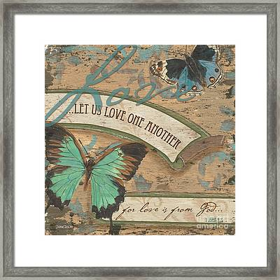 Wings Of Love Framed Print by Debbie DeWitt