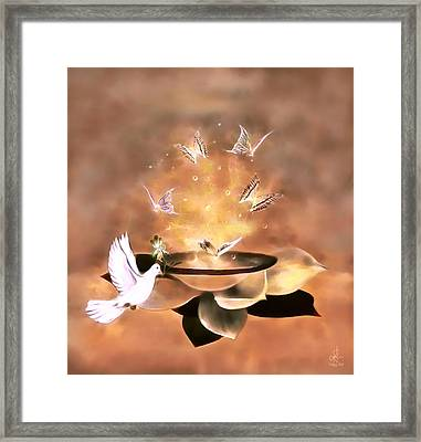 Wings Of Magic Framed Print