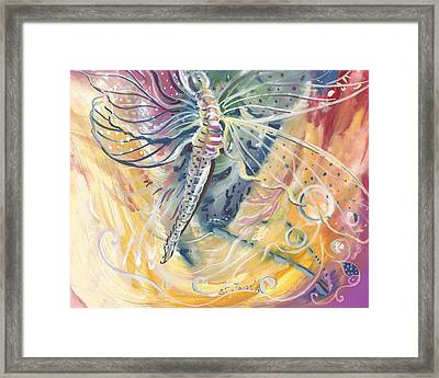 Wings Of Transformation Framed Print