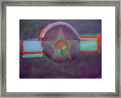 Framed Print featuring the painting Wings Vermillion   by Charles Stuart