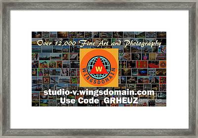 Framed Print featuring the photograph Wingsdomain Art And Photography Holiday 2016 Discount Code Grheuz Ends Jan 1 2017 by Wingsdomain Art and Photography