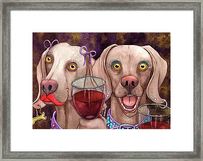 Wining Imers Framed Print by Catherine G McElroy