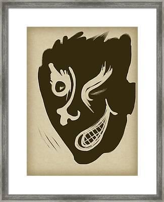 Wink Framed Print by Russell Pierce