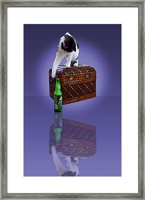 Winky Reflection Framed Print by Michael Whitaker