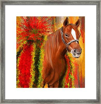 Winner Is - Derby Champion Framed Print by Lourry Legarde