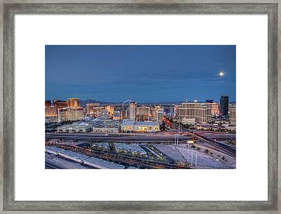 Framed Print featuring the photograph Winner Winner Chicken Dinner - Night by Ryan Smith