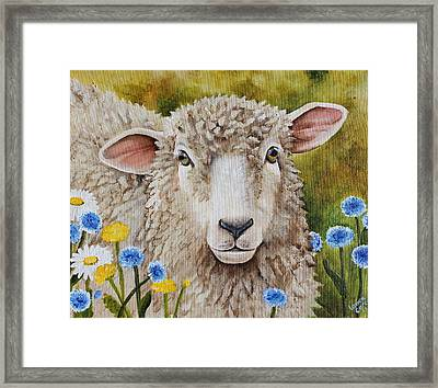 Winnie In The Wild Flowers Framed Print