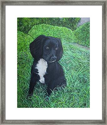 Framed Print featuring the painting Winnie by Tom Roderick