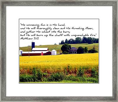 Winnowing Fan Framed Print by Elizabeth Babler