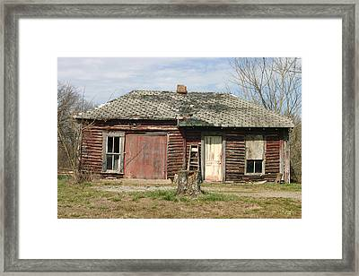 Winslow Cabin Framed Print by Curtis J Neeley Jr