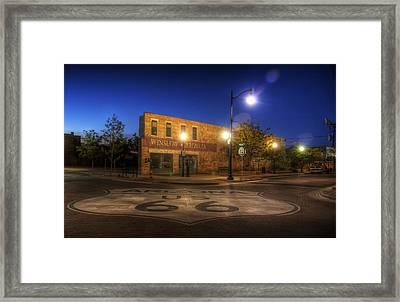 Winslow Corner Framed Print by Wayne Stadler