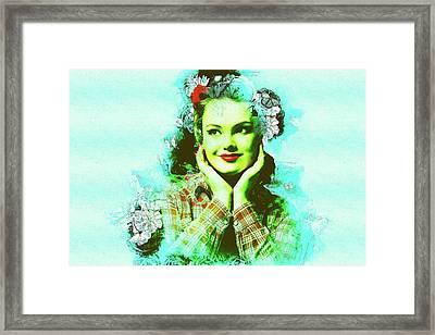 Winsome Lady 2 Framed Print by Elena Riim