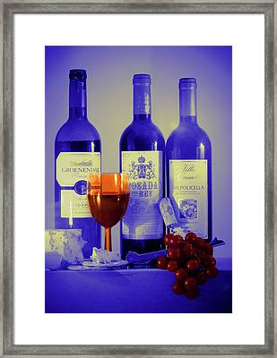 Winsome Wine Framed Print by Donald Davis