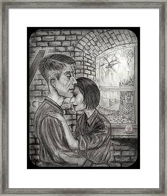 Winston And Julia Framed Print by Philip Harvey