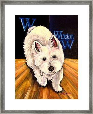 Winston Framed Print by Carol Allen Anfinsen