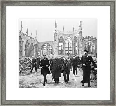 Winston Churchill 1874-1965, Walks Framed Print by Everett