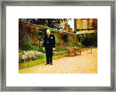 Winston Churchill, 1943 Framed Print by Vincent Monozlay