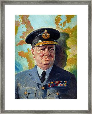 Winston Churchill In Uniform Framed Print by War Is Hell Store