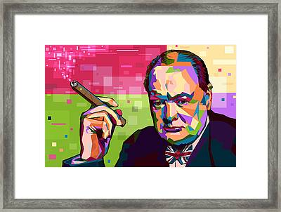 Winston Churchill Framed Print by Mal Bray