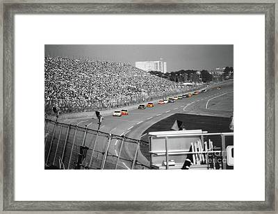 Winston Cup Racing In Daytona 1995 Framed Print by John Black